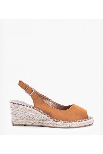 Dámske topánky sandále hnedé kód H135 - GM