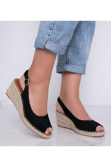 Dámske topánky sandále čierne kód H135 - GM