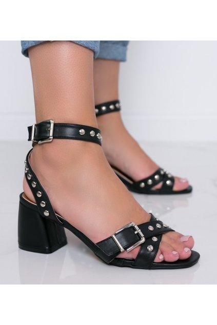 Dámske topánky sandále čierne kód 2982 - GM