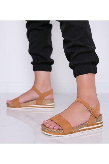 Dámske topánky sandále hnedé kód RD054 - GM