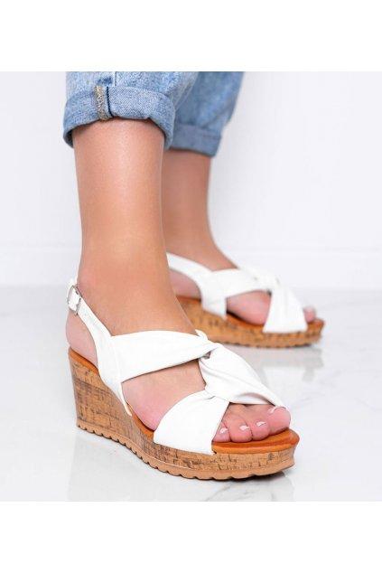 Dámske topánky sandále biele kód S060100 - GM