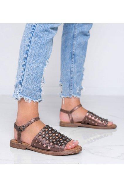 Dámske topánky sandále hnedé kód W18-6582 - GM
