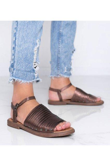 Dámske topánky sandále hnedé kód W18-6581 - GM