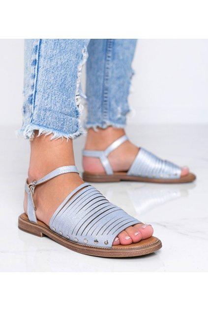 Dámske topánky sandále modré kód W18-6581 - GM