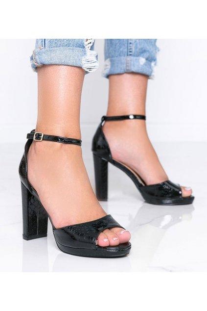 Dámske topánky sandále čierne kód GH395 - GM