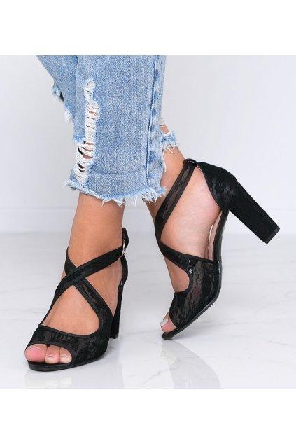 Dámske topánky sandále čierne kód Q756 - GM
