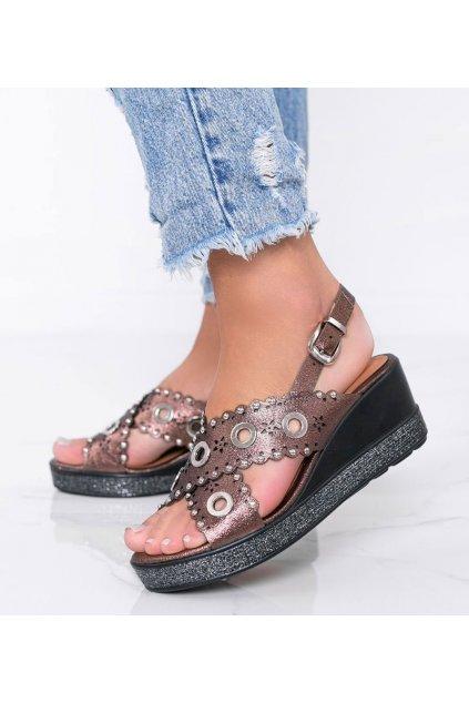 Dámske topánky sandále hnedé kód W18-6372 - GM