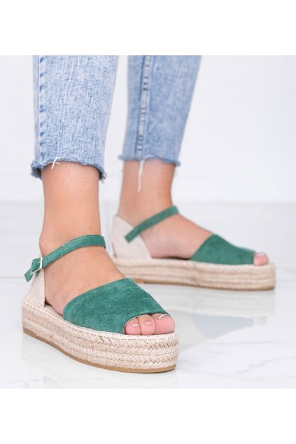Dámske topánky sandále zelené kód A663-ESP-1 - GM