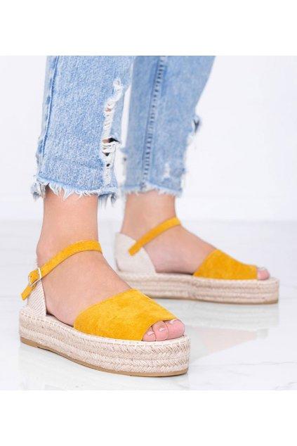 Dámske topánky sandále žlté kód A663-ESP-1 - GM