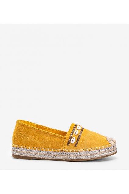 Dámske topánky espadrilky žlté kód 6771 - GM