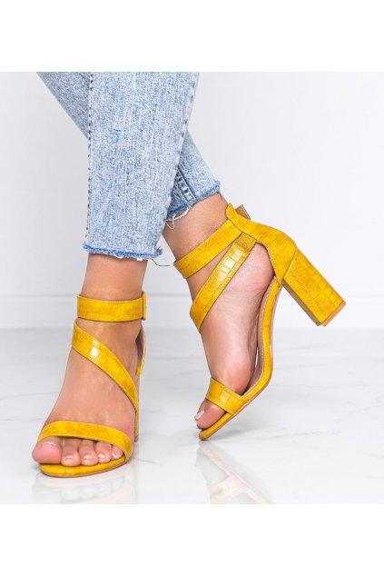 Dámske topánky sandále žlté kód S-901 - GM