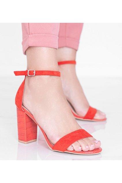 Dámske topánky sandále červené kód 223-SA-2 - GM