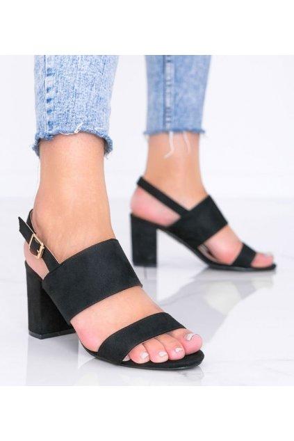 Dámske topánky sandále čierne kód 5810 - GM