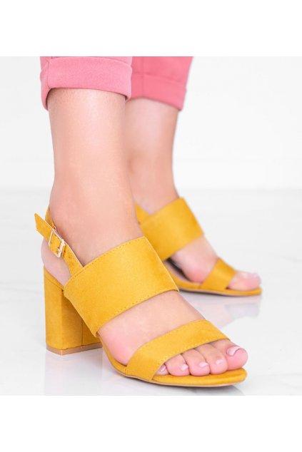 Dámske topánky sandále žlté kód 5810 - GM