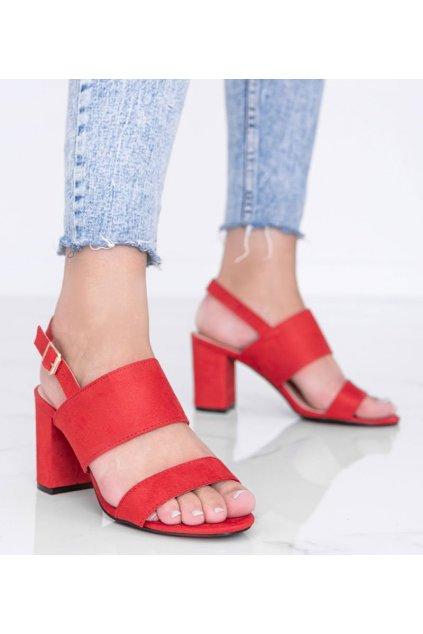 Dámske topánky sandále červené kód 5810 - GM