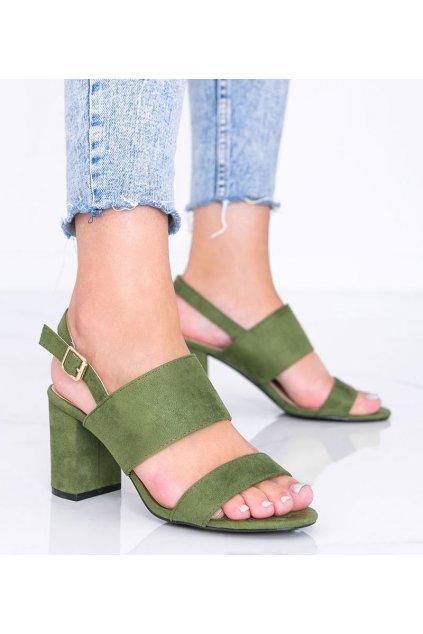 Dámske topánky sandále zelené kód 5810 - GM