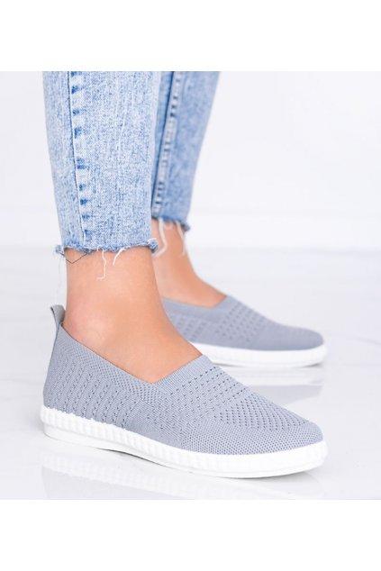 Dámske topánky tenisky sivé kód 1053 - GM