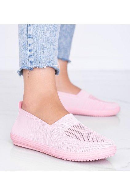 Dámske topánky tenisky ružové kód C018 - GM
