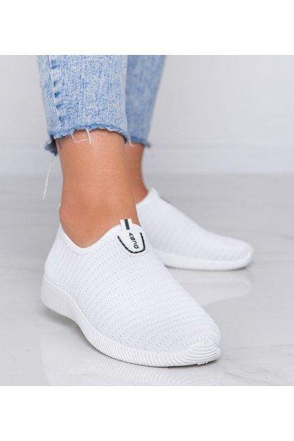Dámske topánky tenisky biele kód C9013 - GM