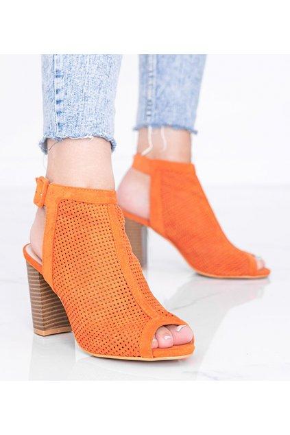 Dámske topánky sandále oranžové kód X-150 - GM