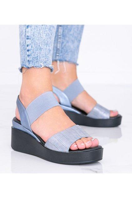Dámske topánky sandále modré kód 3363 - GM