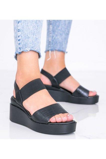 Dámske topánky sandále čierne kód 3363 - GM