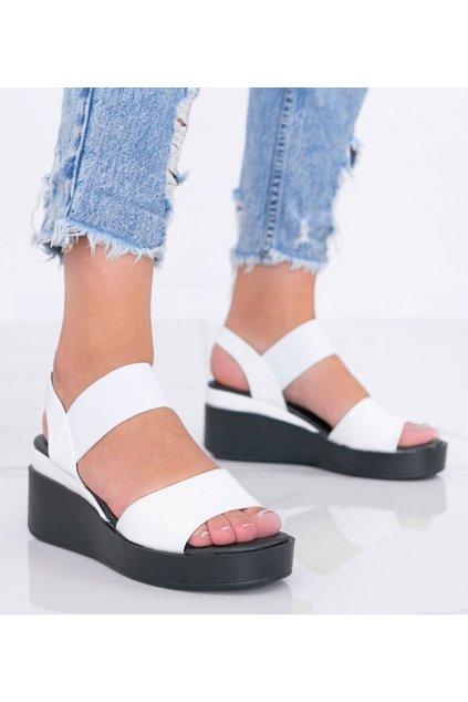 Dámske topánky sandále biele kód 3363 - GM