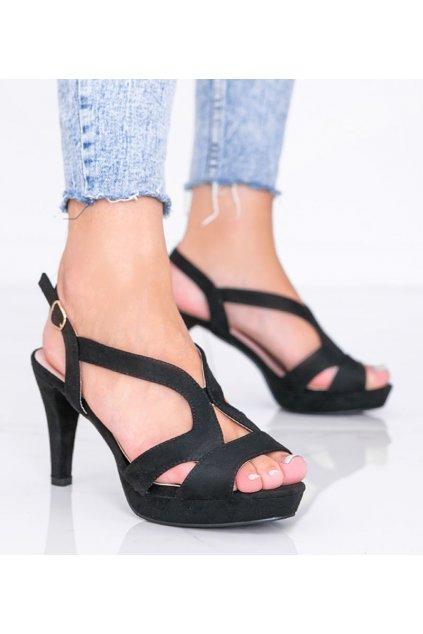 Dámske topánky sandále čierne kód 9R92 - GM