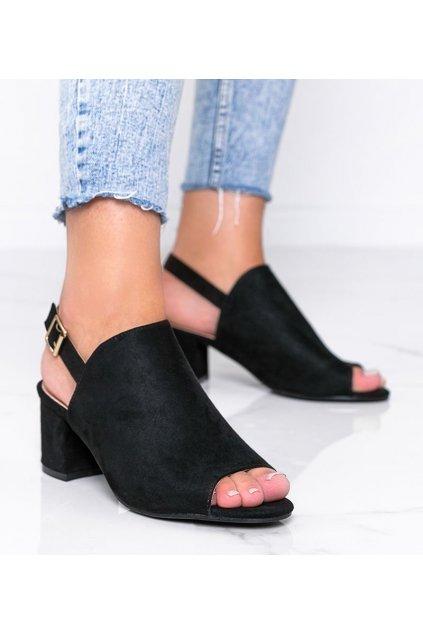 Dámske topánky sandále čierne kód 369-45 - GM