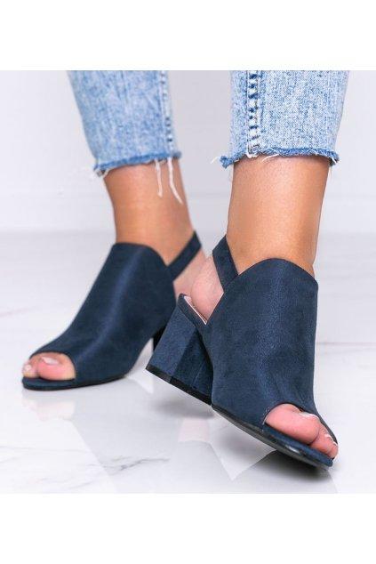 Dámske topánky sandále modré kód 369-45 - GM