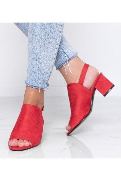Dámske topánky sandále červené kód 369-45 - GM