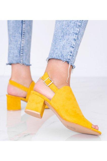 Dámske topánky sandále žlté kód 369-45 - GM