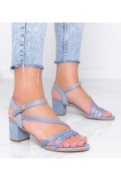 Dámske topánky sandále modré kód 60-123 - GM