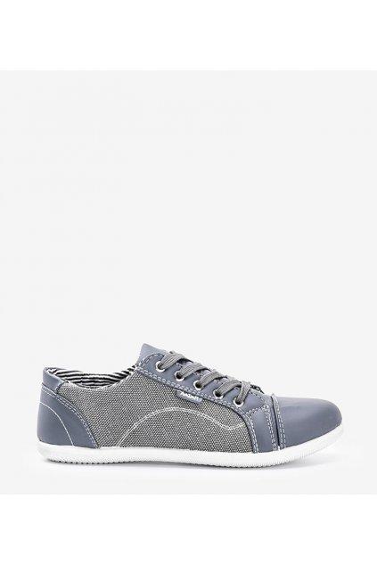 Dámske topánky tenisky sivé kód D-13-B - GM