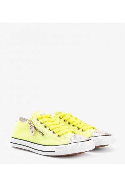 Dámske topánky tenisky žlté kód JX-18 - GM