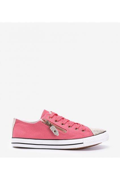 Dámske topánky tenisky ružové kód JX-18 - GM