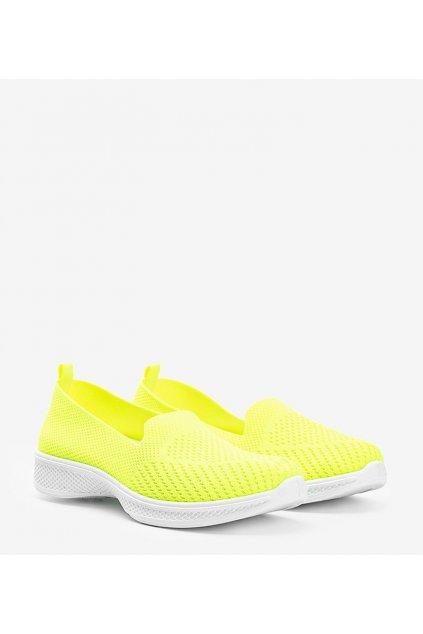 Dámske topánky tenisky zelené kód 11004 - GM