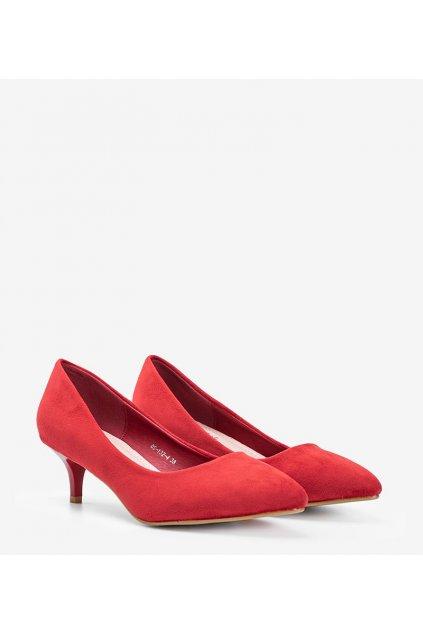 Dámske topánky lodičky červené kód 0S-132-4 - GM
