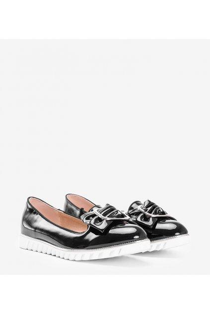 Dámske topánky mokasíny čierne kód 0S-116B-1 - GM