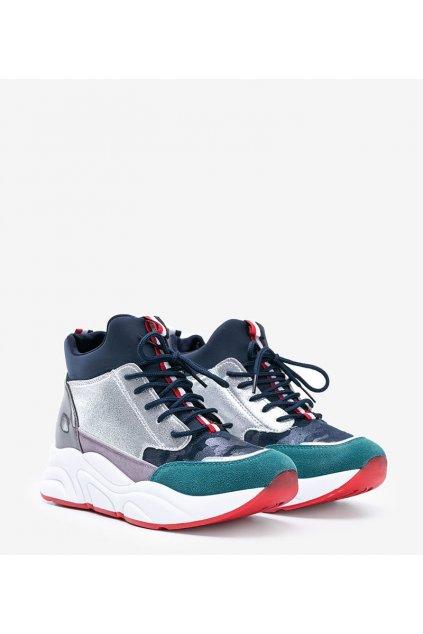 Dámske topánky tenisky modré kód XY2639-4 - GM