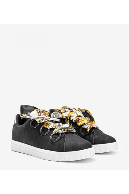 Dámske topánky tenisky čierne kód BK6308-1 - GM
