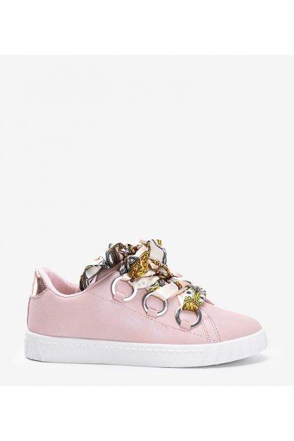 Dámske topánky tenisky ružové kód BK6308-3 - GM