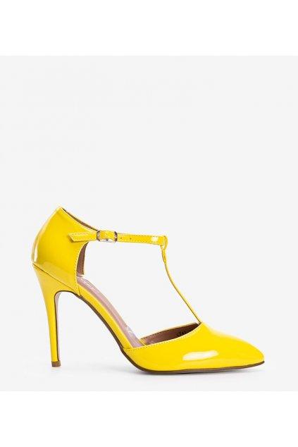 Dámske topánky lodičky žlté kód LT41 - GM