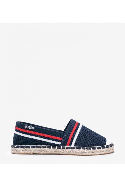 Dámske topánky espadrilky modré kód HH274483 - GM