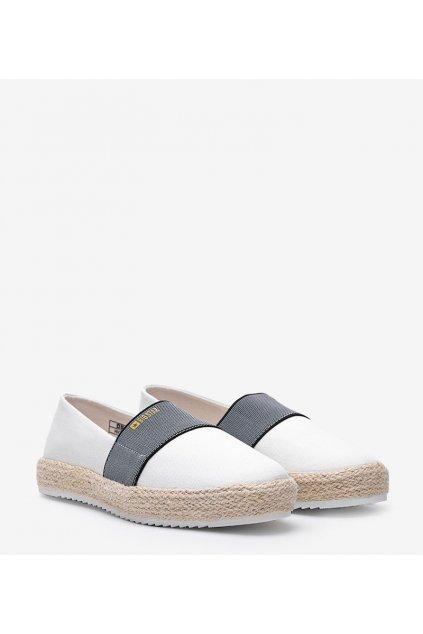 Dámske topánky espadrilky biele kód HH274480 - GM