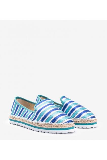 Dámske topánky espadrilky modré kód 3048-13 - GM
