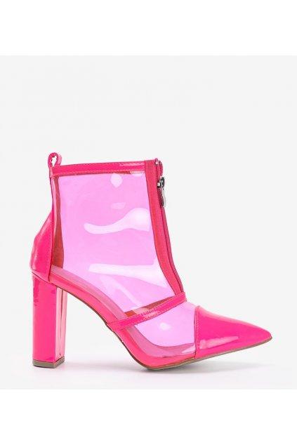 Dámske topánky lodičky ružové kód 6071 - GM