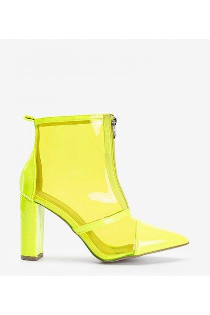 Dámske topánky lodičky žlté kód 6071 - GM