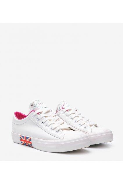 Dámske topánky tenisky biele kód X-818 - GM