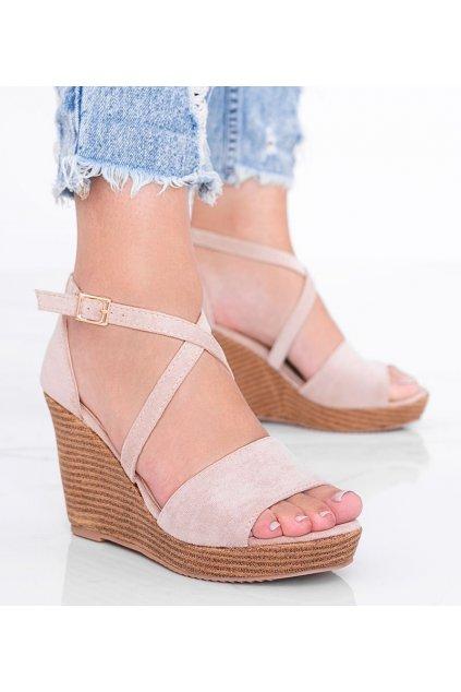 Dámske topánky sandále hnedé kód BL-32-2 - GM
